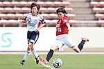 (L to R) <br /> Aya Miyama (Belle), <br /> Hanae Shibata (Urawa Reds Ladies), <br /> MAY 4, 2014 - Football /Soccer : <br /> Plenus Nadeshiko League 2014 <br /> between Urawa Reds Ladies 1-3 Okayama Yunogo Belle <br /> at Saitama Urawa Komaba Stadium, Saitama, Japan. <br /> (Photo by AFLO SPORT) [1205]