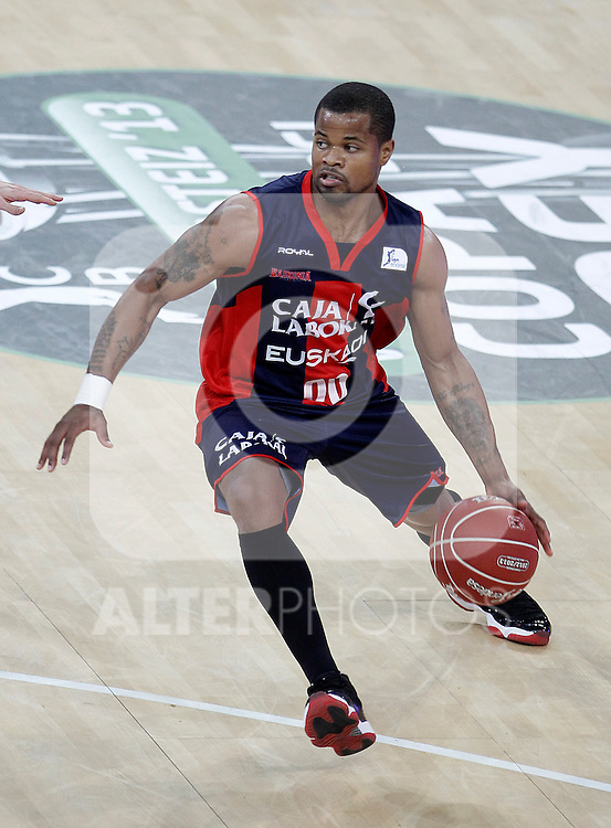 Caja Laboral Baskonia's Omar Cook during Spanish Basketball King's Cup semifinal match.February 07,2013. (ALTERPHOTOS/Acero)