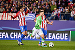 Atletico de Madrid's player Tiago Cardoso and PSV Eindhoven's players Bart Ramselaar during a match of La Liga at Vicente Calderon Stadium in Madrid. November 22, Spain. 2016. (ALTERPHOTOS/BorjaB.Hojas)