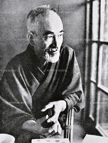 "Undated, Japan - Naoya Shiga (1883 - 1971) was a Japanese novelist and short story writer active during the Taisho and Showa periods of Japan. He contributed the story ""Abashirimade"" to the first issue of the literary magazine Shirakaba (White Birch) in 1910. His major work, ""An'ya Koro"" (A Dark Night's Passing) was serialized in the radical socialist magazine Kaizo between 1921 to 1937. (Photo by Kingendai Photo Library/AFLO)"