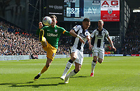 Preston North End's Alan Browne and West Bromwich Albion's Kyle Bartley<br /> <br /> Photographer Stephen White/CameraSport<br /> <br /> The EFL Sky Bet Championship - West Bromwich Albion v Preston North End - Saturday 13th April 2019 - The Hawthorns - West Bromwich<br /> <br /> World Copyright © 2019 CameraSport. All rights reserved. 43 Linden Ave. Countesthorpe. Leicester. England. LE8 5PG - Tel: +44 (0) 116 277 4147 - admin@camerasport.com - www.camerasport.com