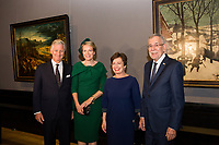 King Philippe and Queen Mathilde of Belgium attend the Bruegel exhibit in Vienna -  Austria