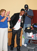 FORT LAUDERDALE, FL - AUGUST 16: &quot;America's Got Talent&quot; host Nick Cannon teamed up with Office Depot to to donate 20,000 backpacks to children in South Florida on August 16, 2012 in Fort Lauderdale, Florida.  (photo by: MPI10/MediaPunch Inc.) /NortePhoto.com<br />