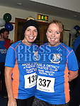 Denise Commons and Suzanne Dillon who took part in the Seamie Weldon memorial run at St. Mary's GAA club Ardee. Photo:Colin Bell/pressphotos.ie
