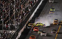 Jul. 5, 2008; Daytona Beach, FL, USA; NASCAR Sprint Cup Series driver Casey Mears (5) crashes during the Coke Zero 400 at Daytona International Speedway. Mandatory Credit: Mark J. Rebilas-