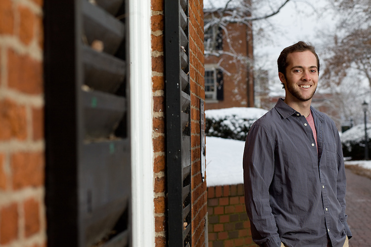Portrait of Ohio University student Brady Edge in Athens, Ohio on Saturday, December 7, 2013. Photo by Chris Franz