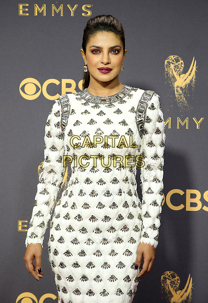 17 September 2017 - Los Angeles, California - Priyanka Chopra. 69th Annual Primetime Emmy Awards held at Microsoft Theater. <br /> CAP/ADM/FS<br /> &copy;FS/ADM/Capital Pictures