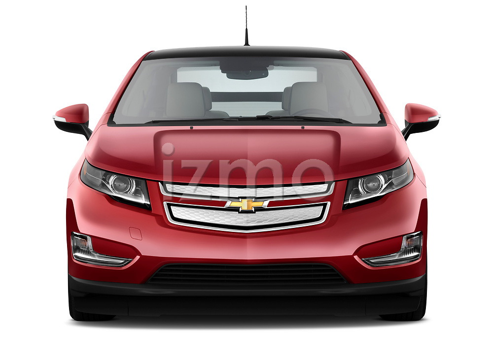 Straight front view of a 2011 Chevrolet Volt