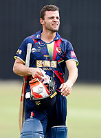 Heino Kuhn walks off after scoring a 100 during the T20 friendly between Kent and the Netherlands at the St Lawrence Ground, Canterbury, on July 3, 2018