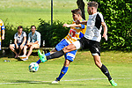 05.07.2017, Sportplatz, Wolfertschwenden, GER, FSP, SV Sandhausen vs FC Luzern, im Bild Filip Ugrinic (Luzern #35), Tim Kister (Sandhausen #14)<br /> <br /> Foto &copy; nordphoto / Hafner