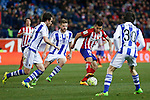 Atletico de Madrid´s Correa and Real Sociedad´s Asier Illarramendi during 2015-16 La Liga match between Atletico de Madrid and Real Sociedad at Vicente Calderon stadium in Madrid, Spain. March 01, 2016. (ALTERPHOTOS/Victor Blanco)