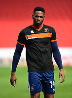 Blackpool's Jamille Matt during the pre-match warm-up <br /> <br /> Photographer Chris Vaughan/CameraSport<br /> <br /> The EFL Sky Bet League Two - Doncaster Rovers v Blackpool - Keepmoat Stadium - Doncaster<br /> <br /> World Copyright &copy; 2017 CameraSport. All rights reserved. 43 Linden Ave. Countesthorpe. Leicester. England. LE8 5PG - Tel: +44 (0) 116 277 4147 - admin@camerasport.com - www.camerasport.com