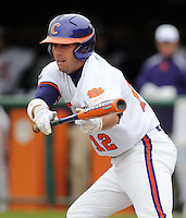 Clemson outfielder Wilson Boyd hits in a game between the Clemson Tigers and Mercer Bears on Feb. 24, 2008, at Doug Kingsmore Stadium in Clemson, S.C. Photo by: Tom Priddy/Four Seam Images