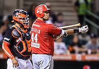 Jesse Castillo de los Mayos , durante partido3 de beisbol entre Naranjeros de Hermosillo vs Mayos de Navojoa. Temporada 2016 2017 de la Liga Mexicana del Pacifico.<br /> © Foto: LuisGutierrez/NORTEPHOTO.COM