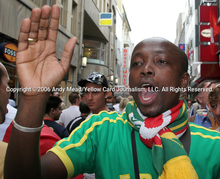 23 June 2006: A Togo fan. Togo played France at the RheinEnergie Stadion in Cologne, Germany in match 45, a Group G first round game, of the 2006 FIFA World Cup.