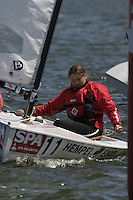 20th SPA Regatta - Medemblik.26-30 May 2004..Copyright free image for editorial use. Please credit Peter Bentley..Trine Abrahansen - DEN