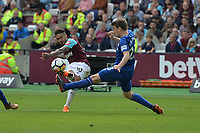 Manuel Lanzini of West Ham scores the third Goal and celebrates during West Ham United vs Everton, Premier League Football at The London Stadium on 13th May 2018