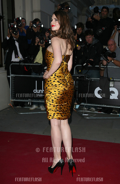 Hayley Atwell arriving for the GQ Awards 2010, at the Royal Opera House, London. 07/09/2010  Picture by: Alexandra Glen / Featureflash