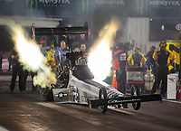 Sep 27, 2019; Madison, IL, USA; NHRA top fuel driver Mike Salinas during qualifying for the Midwest Nationals at World Wide Technology Raceway. Mandatory Credit: Mark J. Rebilas-USA TODAY Sports