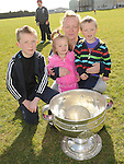 Ryan , Coady, Emelia and Lorraine Dunne pictured with the Sam Maguire cup at Newtown Blues GAA club. Photo: Colin Bell/pressphotos.ie