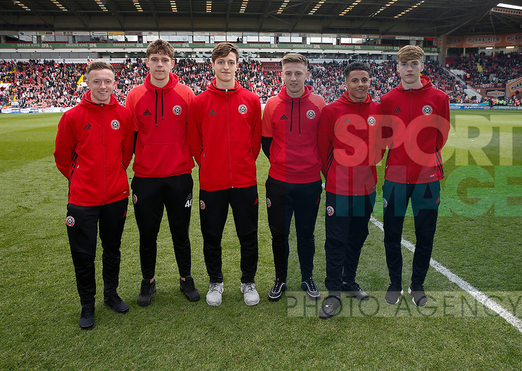 U18 team members during the English League One match at  Bramall Lane Stadium, Sheffield. Picture date: April 30th 2017. Pic credit should read: Simon Bellis/Sportimage
