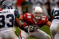 Nov. 6, 2005; Tempe, AZ, USA; Tight end (89) Adam Bergen of the Arizona Cardinals against the Seattle Seahawks at Sun Devil Stadium. Mandatory Credit: Mark J. Rebilas