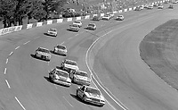 Bobby Allison leads a long line of cars into turn 3 at Atlanta in November 1982. (Photo by Brian Cleary)