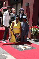 Marcus Miller, Clive Davis, Seveda Williams, Nile Rodgers, Alfonso 'Fonzi' Thornton<br /> at the Luther Vandross Honored Posthumously Star on the Walk Of Fame, Redbury Hotel, Hollywood, CA 06-03-14<br /> David Edwards/DailyCeleb.com 818-249-4998