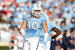 24 October 2015: UNC's Jeff Schoettmer. The University of North Carolina Tar Heels hosted the University of Virginia Cavaliers at Kenan Memorial Stadium in Chapel Hill, North Carolina in a 2015 NCAA Division I College Football game. UNC won the game 26-13.