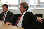 Mar 18, 2010 - Tokyo, Japan - French Foreign Minister Bernard Kouchner (R) accompanied by ambassador Philippe Faure (L) answers journalists' questions at the newly opened French Embassy in Tokyo on March 18, 2010. Bernard Kouchner is on a two-day visit in Tokyo and will fly to South Korea on March 19.  (Photo Laurent Benchana/Nippon News).
