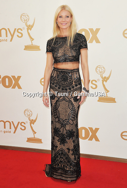 Gwyneth Paltrow  arriving at the 2011 Emmy Awards at the Nokia Theatre in Los Angeles.