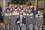 QUALITY: Donie O'Shea with Staff members of Adams Garage and Car Sales, Mile Height, Tralee celebrating on Friday after receiving the Renault Quality Global Award. Front: Donie O'Shea (Foreman). Mechanics: Joseph O'Carroll, Jim Heffernan, Michael O'Connor, Paddy Keane, Adrian O'Hara, Stephen O'Keeffe, Mike Walsh, Tadgh Meehan, Kieran McNamara and Frank Moriarty.   Copyright Kerry's Eye 2008