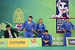 (L to R)  Kosei Inoue, Takeshi Ojitani, Masashi Ebinuma, Riki Nakaya, Takahiro Nakai (JPN), .April 21, 2013 - Judo : .Asian Judo Championships 2013, Men's Team Competition Final .at Bangkok Youth Centre, Bangkok, Thailand. .(Photo by Daiju Kitamura/AFLO SPORT) [1045]