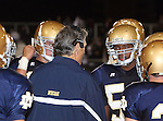 Servite @ Notre Dame - Sherman Oaks (CIF Southern Section).ND COACH KEVIN ROONEY AND TEAM HUDDLE.Notre Dame High School Stadium.Sherman Oaks, CA (Los Angeles) - October 5, 2007.OM3D8173.CREDIT: Dirk Dewachter