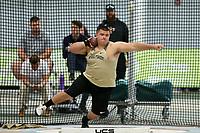 WINSTON-SALEM, NC - FEBRUARY 08: Jason Wagner of Wake Forest University competes in the Men's Shot Put at JDL Fast Track on February 08, 2020 in Winston-Salem, North Carolina.