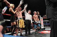 Lenny Daws vs Chris Truman in a Boxing contest at the Magna Centre, Rotherham, promoted by Hennessy Sports - 18/02/12 - MANDATORY CREDIT: Chris Royle