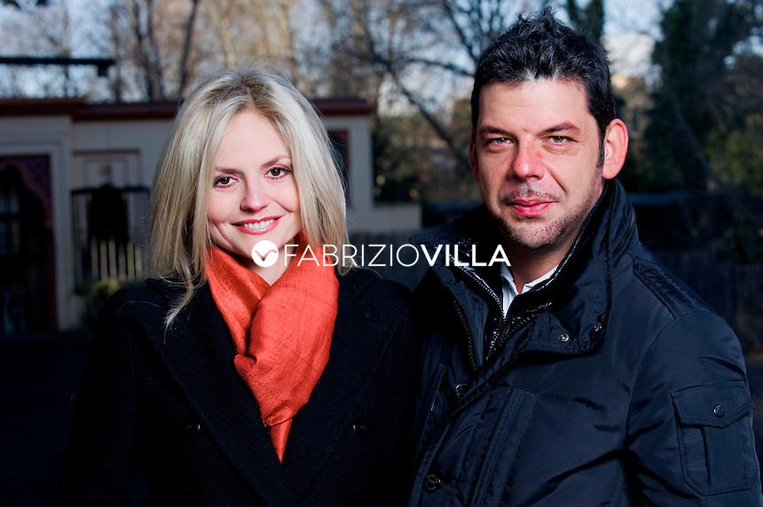 Salvo Sottile, giornalista e conduttore di Quarto Grado su Canale 5, con la moglie Sara Varetto. Foto Fabrizio Villa