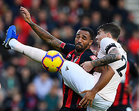 Callum Wilson of AFC Bournemouth and Victor Lindelof of Manchester United vie for the ball during AFC Bournemouth vs Manchester United, Premier League Football at the Vitality Stadium on 3rd November 2018