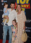 "Jimmy Kimmel, Molly McNearney, Jane Kimmel, William Kimmel  arrives at the premiere of Disney and Pixar's ""Toy Story 4"" on June 11, 2019 in Los Angeles, California."