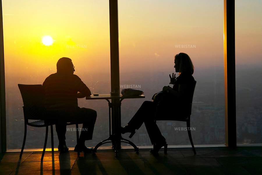 Turkey, Istanbul, Levent District, Isbank Tower 1, October 6, 2012