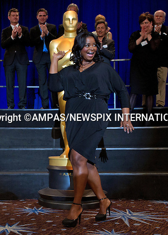 84TH OSCARS NOMINEES LUNCHEON.Octavia Spencer at the Oscar Nominees Luncheon in Beverly Hills_February 6, 2012..The 84th Academy Awards will be presented on Sunday, February 26, 2012, at the Kodak Theatre at Hollywood & Highland Center®, and televised live by the ABC Television Network..MANDATORY PHOTO CREDIT: ©Harbaugh/NEWSPIX INTERNATIONAL . .(Failure to by-line the photograph will result in an additional 100% reproduction fee surcharge. You must agree not to alter the images or change their original content)..            *** ALL FEES PAYABLE TO: NEWSPIX INTERNATIONAL ***..IMMEDIATE CONFIRMATION OF USAGE REQUIRED:Tel:+441279 324672..Newspix International, 31 Chinnery Hill, Bishop's Stortford, ENGLAND CM23 3PS.Tel: +441279 324672.Fax: +441279 656877.Mobile: +447775681153.e-mail: info@newspixinternational.co.uk