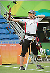RIO DE JANEIRO - 16/9/2016:  Karen van Nest competes in the Women's Ind. Compound - Open 1/8 Elimination Match the Sambodromo during the Rio 2016 Paralympic Games in Rio de Janeiro, Brazil. (Photo by Matthew Murnaghan/Canadian Paralympic Committee)