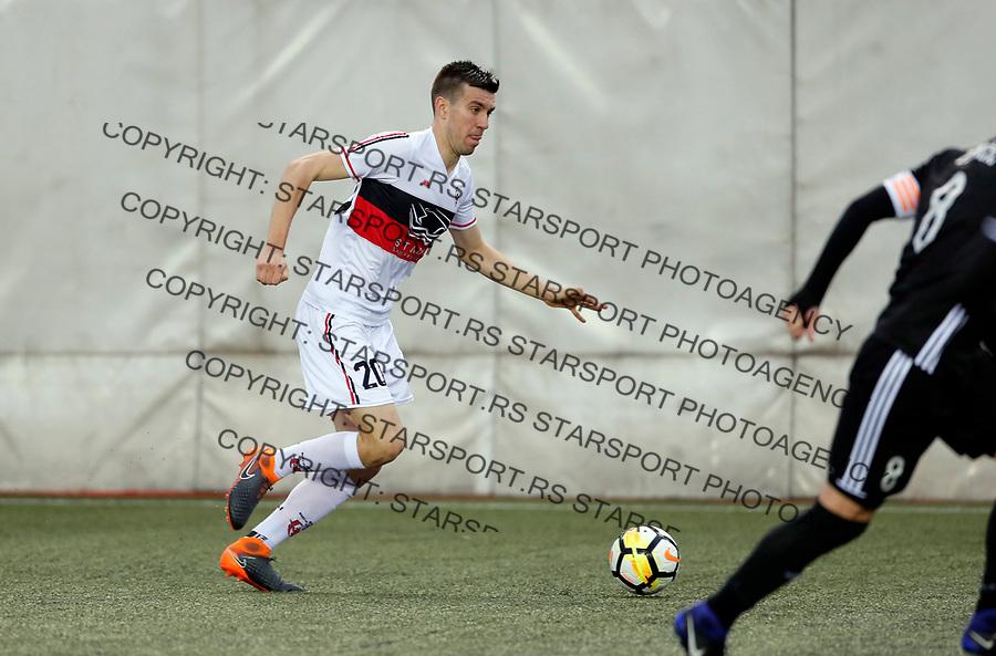 Andrija Lukovic  Vozdovac - Cukaricki super liga Srbije 5.4.1018. April 5. 2018. (credit image & photo: Pedja Milosavljevic / STARSPORT)