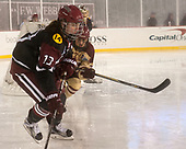 Ali Peper (Harvard - 13), Kristyn Capizzano (BC - 7) - The Boston College Eagles defeated the Harvard University Crimson 3-1 on Tuesday, January 10, 2017, at Fenway Park in Boston, Massachusetts.The Boston College Eagles defeated the Harvard University Crimson 3-1 on Tuesday, January 10, 2017, at Fenway Park.