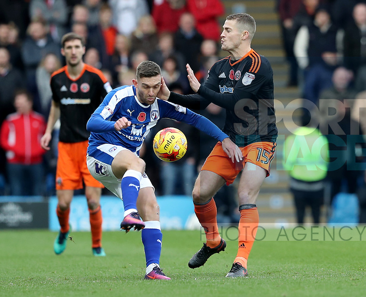 Paul Coutts of Sheffield Utd during the English Football League One match at Proact Stadium, Chesterfield. Picture date: November 13th, 2016. Pic Jamie Tyerman/Sportimage