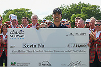 Kevin Na (USA) and his check for winning the 2019 Charles Schwab Challenge, Colonial Country Club, Ft. Worth, Texas,  USA. 5/26/2019.<br /> Picture: Golffile | Ken Murray<br /> <br /> All photo usage must carry mandatory copyright credit (© Golffile | Ken Murray)
