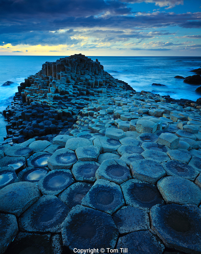 The Giants Causeway        Giants Casueway National Trust Preserve, Northen Ireland United Kingdom     Columnar basalt formations