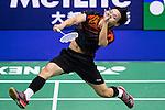 Chan Yan Kit of Hong Kong plays against Lin Yu Hsien of Taiwan during the YONEX-SUNRISE Hong Kong Open Badminton Championships 2016 at the Hong Kong Coliseum on 22 November 2016 in Hong Kong, China. Photo by Marcio Rodrigo Machado / Power Sport Images