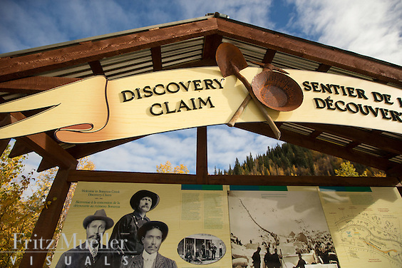 The Discovery Claim National Historic Site in the Klondike Gold Fields near Dawson City, Yukon