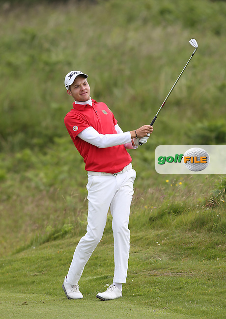 Maximilian Mehles (Germany) defeated James Allen (Chelmsford) 3&2 during Round One of the Match Play at The Amateur Championship 2014 from Royal Portrush Golf Club, Portrush, Northern Ireland. Picture:  David Lloyd / www.golffile.ie